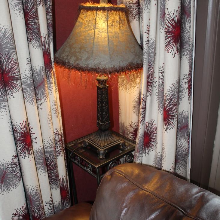 Splurge - curtains and sofa
